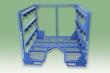 Multiple-level, stackable frames for weldments