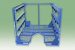 Multiple-level, stackable frames for weldments